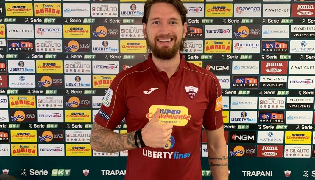<strong>TIL ITALIA:</strong> Stefan Strandberg er klar for Trapani Calco. Laget spiller på nest øverste nivå i Italia. Foto: Trapani.