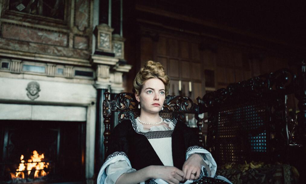 <strong>FØRSTEPLASS:</strong> «The Favourite», med Emma Stone i en av hovedrollene, ligner ikke på noe annet.