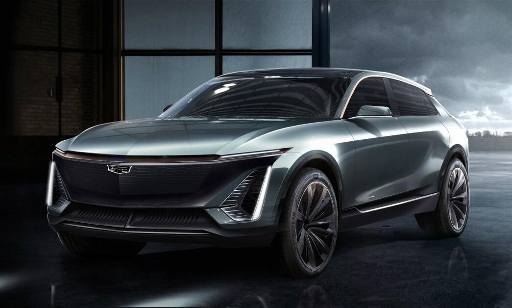 <strong>GÅR ELEKTRISK:</strong> I GMs nye strategi skal Cadillac lede an i deres elektriske fremtid. Etter alt å dømme blir den første bilen på deres nye elektriske plattform en crossover i mellomklassen. Foto: Cadillac.