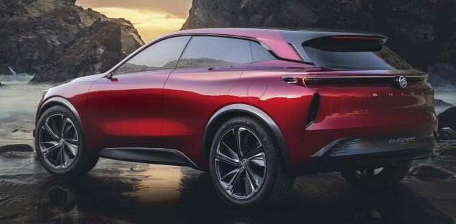 <strong>9 MODELLER:</strong> Vi vil se flere skisser på mellomstore SUV-er fra GM i nærmeste fremtid, Her er Buick sitt forslag. Skisse: Buick