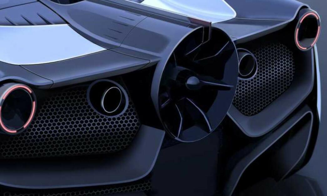 <strong>FORMEL 1-TEKNOLOGI:</strong> Gordon Murray børster støv av sin suksessfulle vifte som suger bilen til bakken. Formel 1-bilen ble bare brukt i ett løp - som den vant. Nå skal vi snart se den på en gateregistrert bil. Illustrasjon Gordon Murray Design
