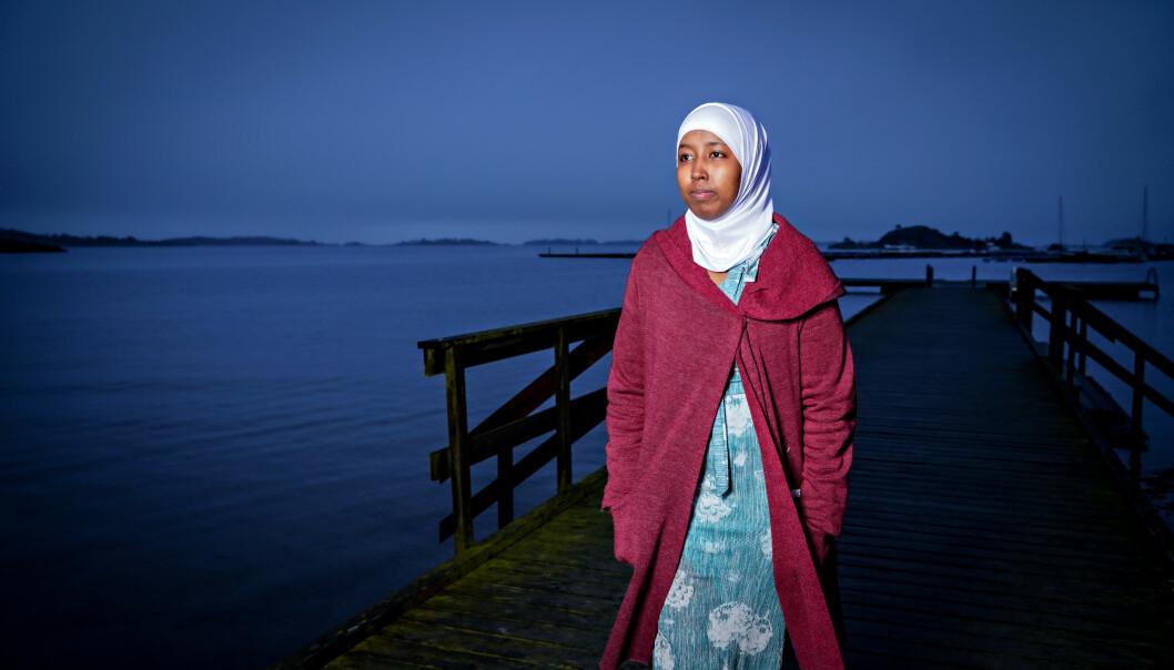 <strong>VANT MOT NORGE:</strong> Mariya (26) kom til Norge som 16 år gammel flyktning. Sønnen hennes ble adoptert bort til fosterforelsre. Foto: Sondre Transeth