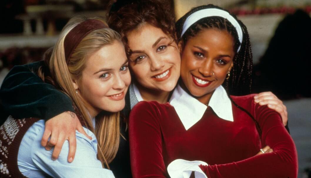 UNG OG LOVENDE: Brittany Murphy startet skuespillerkarrieren i ung alder. Her med Alicia Silverstone og Stacey Dash under innspillingen av «Clueless» i 1995. Foto: NTB Scanpix