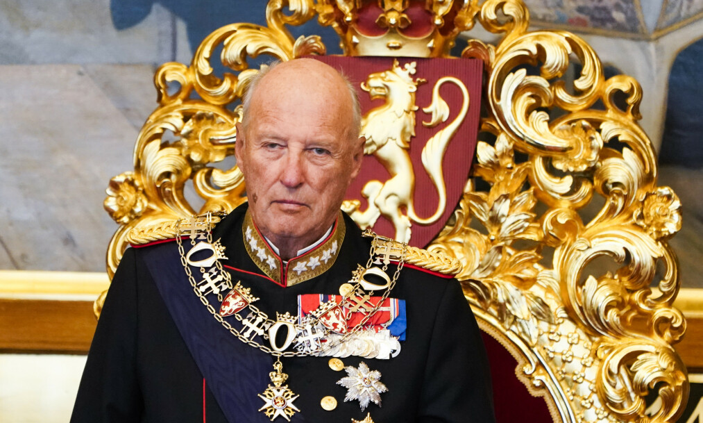 SYKMELDT: Kong Harald deltar ikke i statsråd fredag. Foto: NTB Scanpix