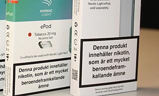 MERKES: Den norske merkingen antas å bli lik som den i Sverige, som vist på bildet. Foto: Nordic Light
