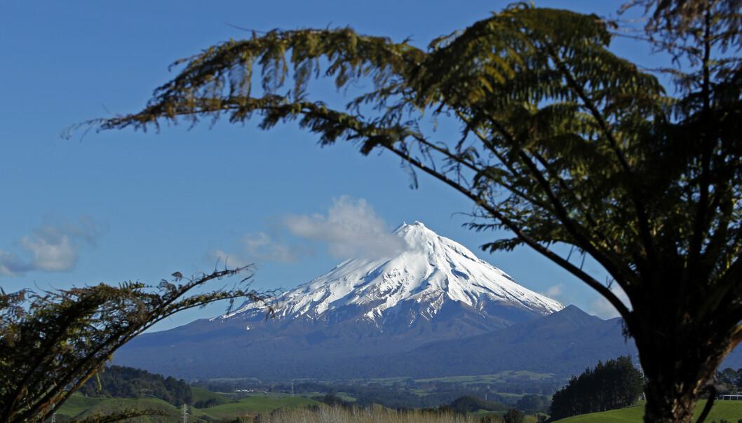 <strong>MEKTIG SYN:</strong> Mount Taranaki i nærheten av New Plymouth er et syn like mektig som planene Karl Reipen hadde for sin fjellresort i området. Foto: Bogdan Cristel / Reuters / NTB Scanpix