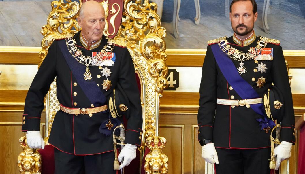 STEPPER INN: Kronprins Haakon vil fredag være til stede under Statsråd. Kong Harald er fremdeles sykmeldt. Foto: NTB Scanpix