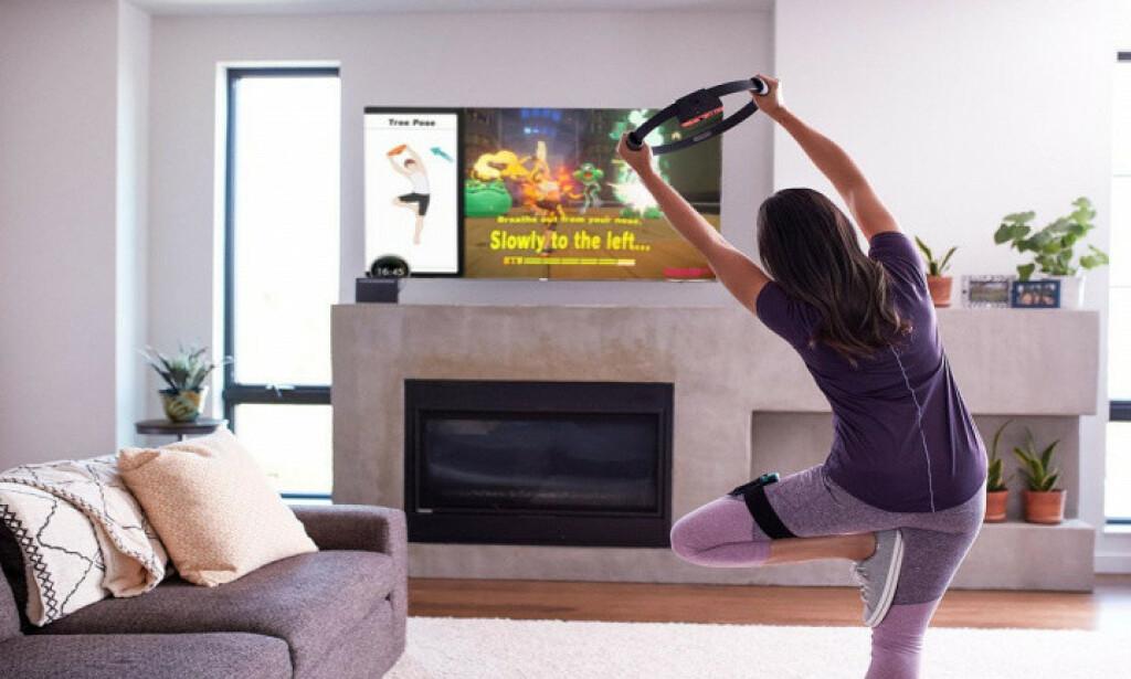 SLIK SER DU UT: Om du føler deg ukomfortabel på treningssenter, kanskje dette kan være noe? Foto: Nintendo