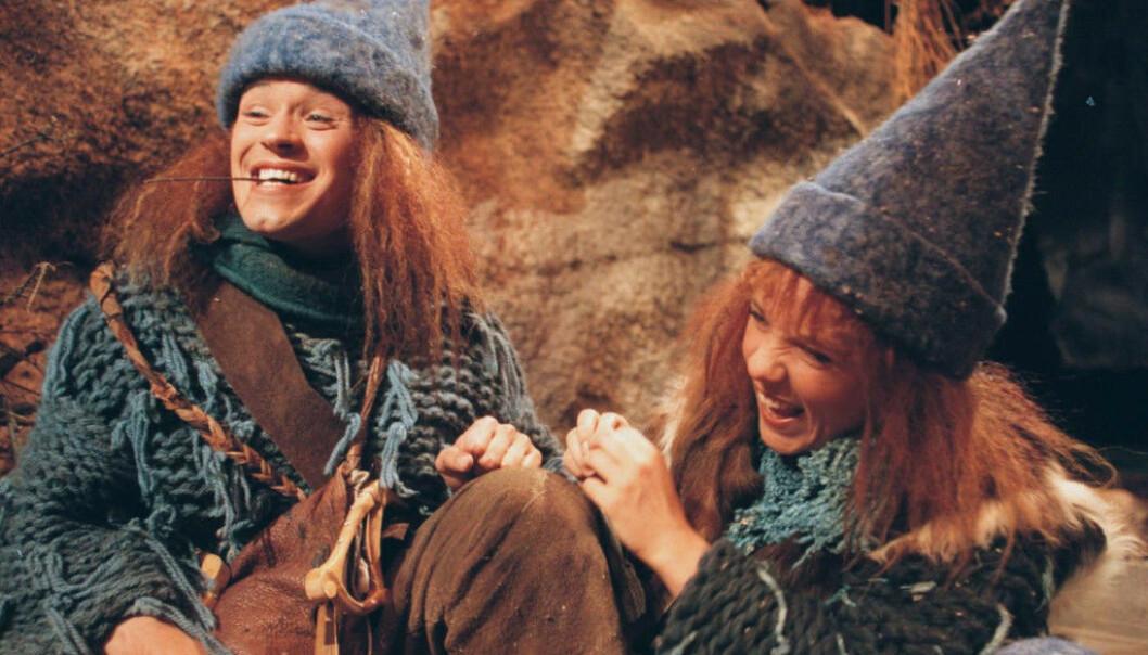 POPULÆRE: Mikkel Gaup og Suzanne Paalgard hadde rollene som nisseungene Tvilling og Turte. Foto: NRK