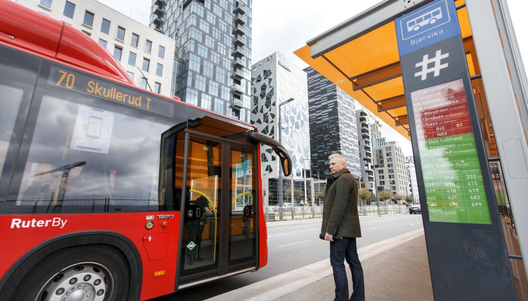 <strong>DYRERE:</strong> Det blir dyrere å reise kollektivt i hovedstaden fra neste år: Ruter øker prisene med 3 prosent. Foto: NTB scanpix