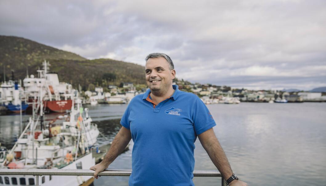 <strong>HOLDT IKKE GARANTI:</strong> «Nessekongen» Ted Robin Endresen (47) solgte sjømat med kvalitetsmerket «Krav». Det skulle bevise at bedriften fulgte norsk arbeidsmiljølov. Men det gjorde den ikke. Foto: Marius Fiskum