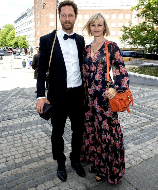 <strong>FAMILIE PÅ FEM:</strong> Trond Fausa Aurvåg og Lena Kristin Ellingsen giftet seg i 2014 og sammen har de tre barn. Foto: Andreas Fadum/ Se og Hør