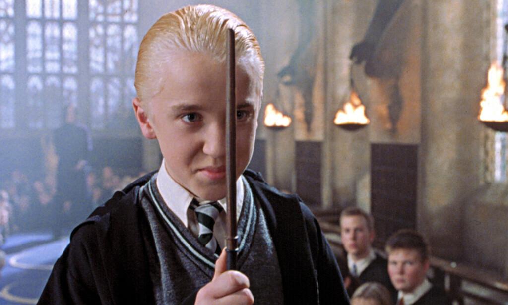 SATSET PÅ RAP-KARRIERE: Tom Felton, som spiller Draco Malfoy i «Harry Potter»-filmene, ønsket seg en helt annen karriere etter filmene. Foto: Warnes Brothers/Everett Collection