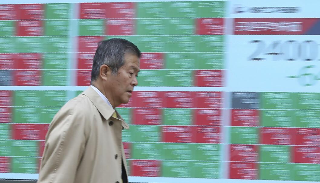 <strong>FLAT SLUTT:</strong> Asia-børser endte flatt etter å ha åpnet i pluss mandag. (AP Photo/Koji Sasahara)