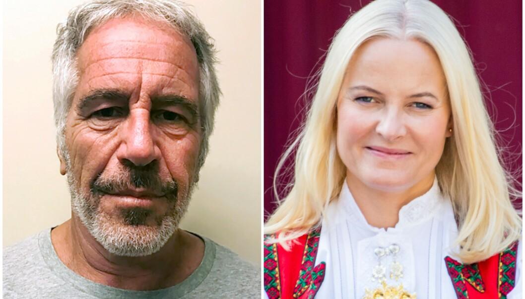 UHELDIG: Jeffrey Epstein og Mette-Marit er en særdeles dårlig kombinasjon. Foto: NTB Scanpix