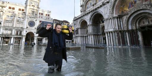 image: Vannet dekker 60 prosent av sentrum