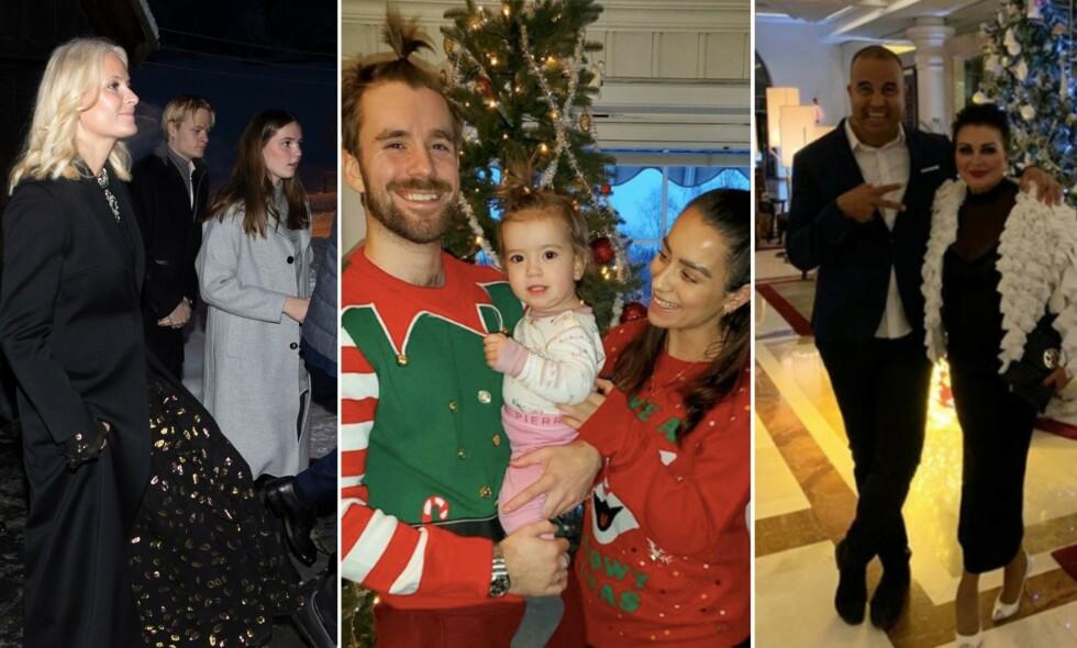 JULEFEIRING: Kjendisene deler innblikk fra julefeiringen i sosiale medier. Foto: NTB Scanpix / Skjermbilde fra Instagram