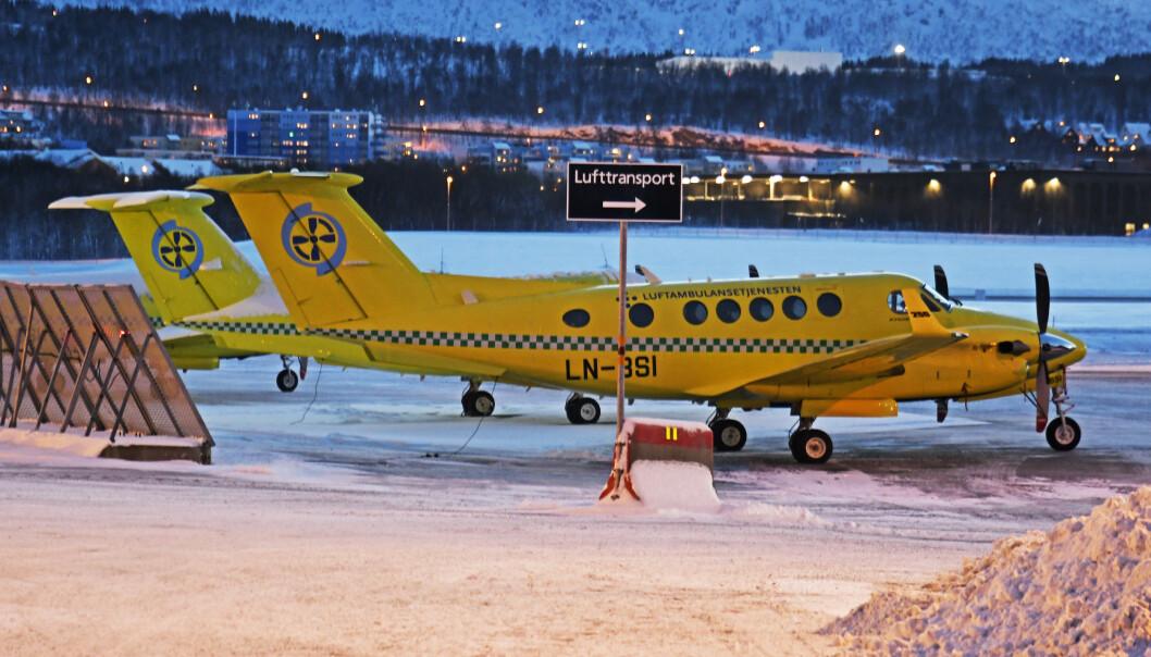 Akutt sykdom førte til at ambulansefly fra Babcock i på nytt ble stående på bakken andre juledag. Foto: Rune Stoltz Bertinussen / NTB scanpix