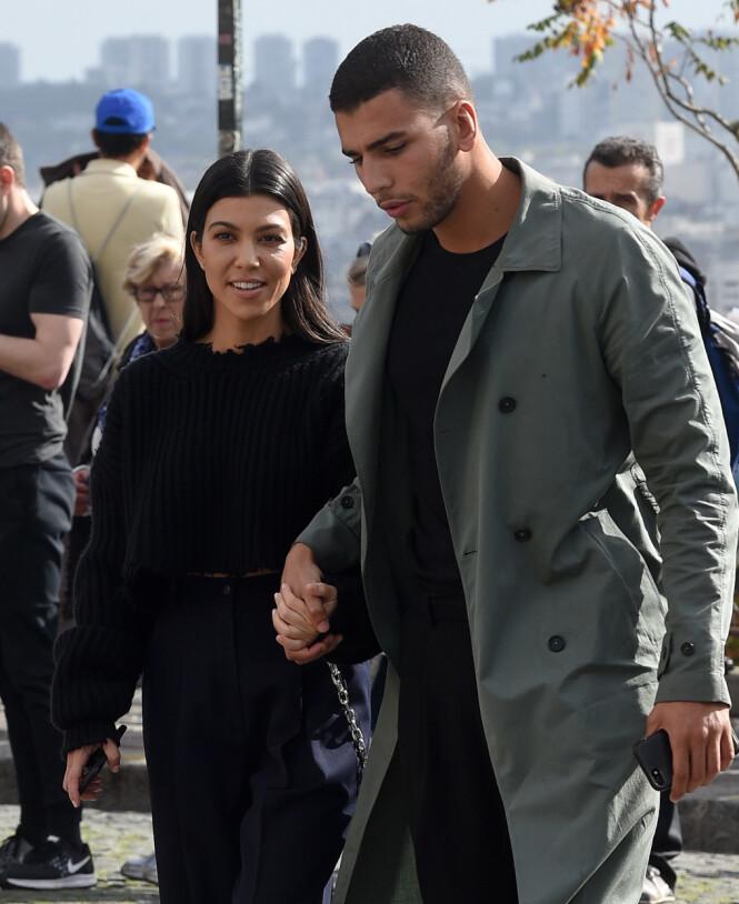 SAMMEN IGJEN?: Mye tyder på at Kourtney Kardashian har funnet tibake til eksen. Her er de sammen i 2017. Foto: NTB Scanpix