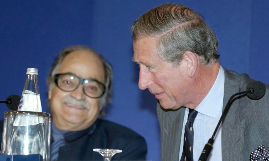 ISLAMSK BANKMANN: Saleh Kamel er en av Saudi-Arabias rikeste. Her er han sammen med britenes prins Charles under en islamsk bank- og utviklingskonferanse i London i mai 2004. Foto: NTB Scanpix