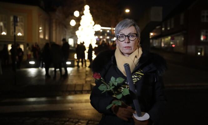 <strong>TIL STEDE:</strong> Ordfører i Moss, Hanne Tollerud, er blant dem som er til stede søndag kveld. Foto: Bjørn Langsem / Dagbladet