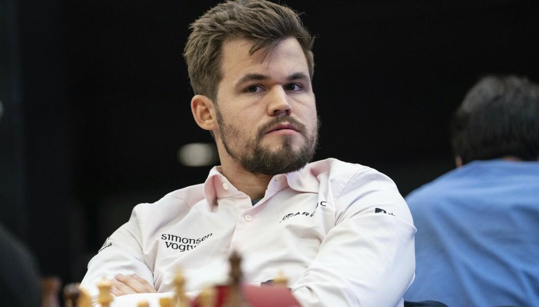 <strong>TRE VM-TITLER:</strong> Magnus Carlsen er nå verdensmester i klassisk sjakk, lynsjakk og hurtigsjakk. Foto: NTB Scanpix