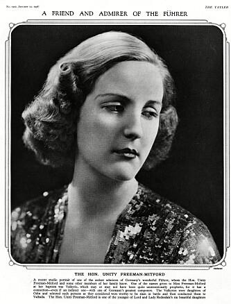 <strong>SA HUN VAR JØDEHATER:</strong> Unity Mitford er kanskje den mest beryktede av Mitford-søstrene. Hun støttet nazistene og pleiet omgang med Adolf Hitler. Foto: Historia/REX/Shutterstock/NTB/Scanpix