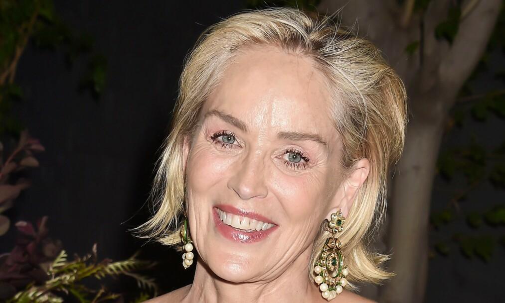 VIL DATE IGJEN: Sharon Stone hadde ikke hell med seg da hun forsøkte seg på datingappen Bumble. Foto: NTB scanpix