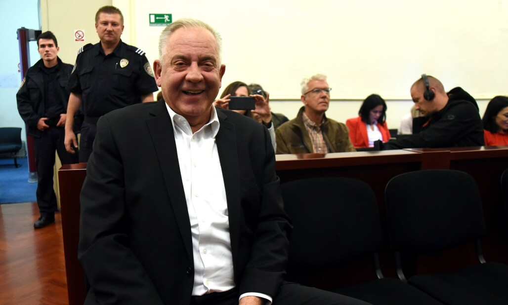 <strong>KORRUPSJONSDOM:</strong> Kroatias tidligere statsminister Ivo Sanader er dømt til seks års fengsel for å ha tatt imot bestikkelser fra lederen av et ungarsk energiselskap.  Foto: STR / AFP / NTB Scanpix