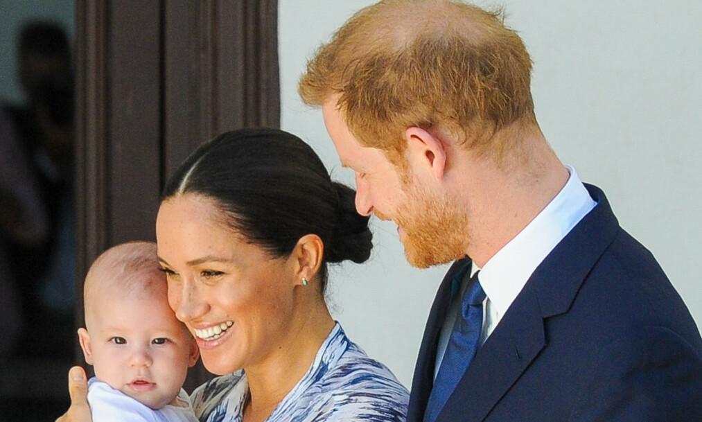 <strong>DELTE NYTT BILDE:</strong> Prins Harry og hertuginne Meghan markerte inngangen til det nye tiåret med å sende en hilsen til alle sine følgere. Foto: NTB Scanpix