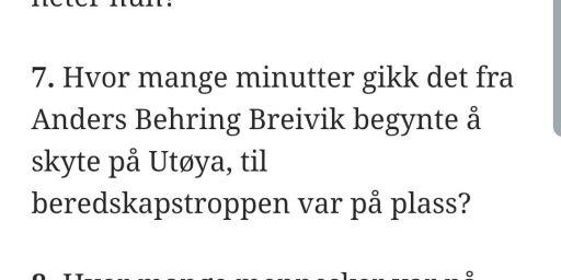 image: Beklager etter Utøya-spørsmål