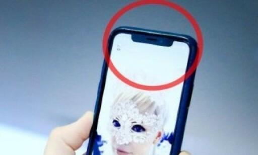 BUSSLOMME: iPhone X var først ute med den svarte lomma på toppen. Siden har de fleste konkurrentene lansert tilsvarende. Foto: Ole Petter Baugerød Stokke