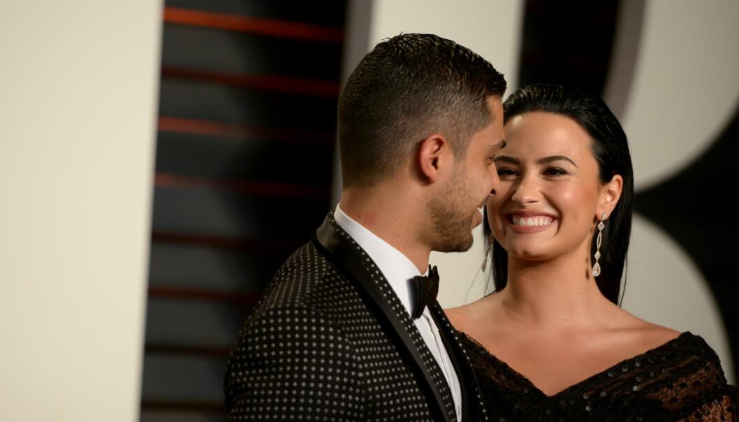 SLUTT: Forholdet mellom Valderrama og Lovato tok slutt i 2016, men de skal ha beholdt det gode vennskapet. Foto: NTB Scanpix