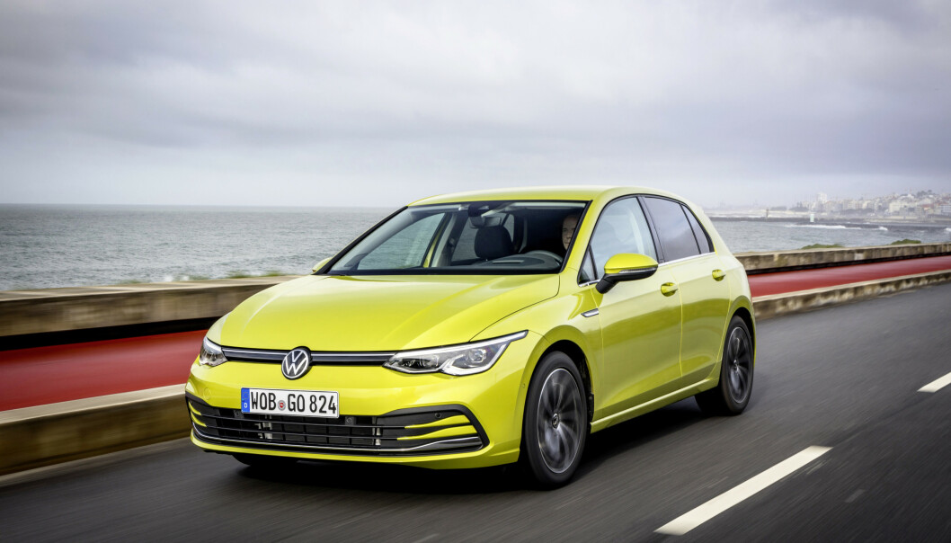 <strong>VW GOLF 8:</strong> Volkswagen har fått problemer med sikkerhetsutstyret og har stoppet utleveringen av siste generasjon Golf, samt biler fra søstermerkene Skoda (Octavia), Audi (A3) og Seat (Leon). Foto: VW