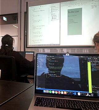 """""""Hver modul består av rundt to uker med undervisning og en uke prosjekt"""". 📸: Privat"""