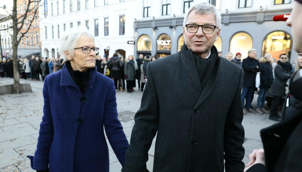 TIL STEDE: Kjell Magne Bondevik og kona Bjørg. Foto: Nina Hansen / Dagbladet