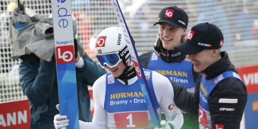 image: Marius Lindvik vant etter drama
