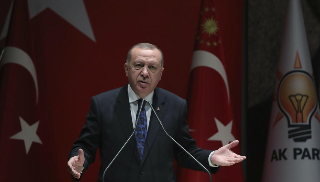Tyrkias president Recep Tayyip Erdogan sender soldater til Libya for å støtte opp om landets internasjonalt anerkjente regjering. Foto: AP / NTB scanpix