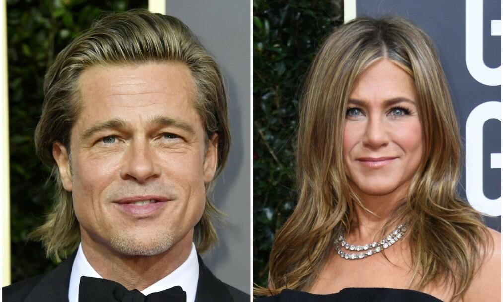 GJENFORENING?: Brad Pitts uttalelser om ekskona Jennifer Aniston legger ikke akkurat noen demper på håpet om å få se bilde av de sammen igjen. Foto: NTB Scanpix