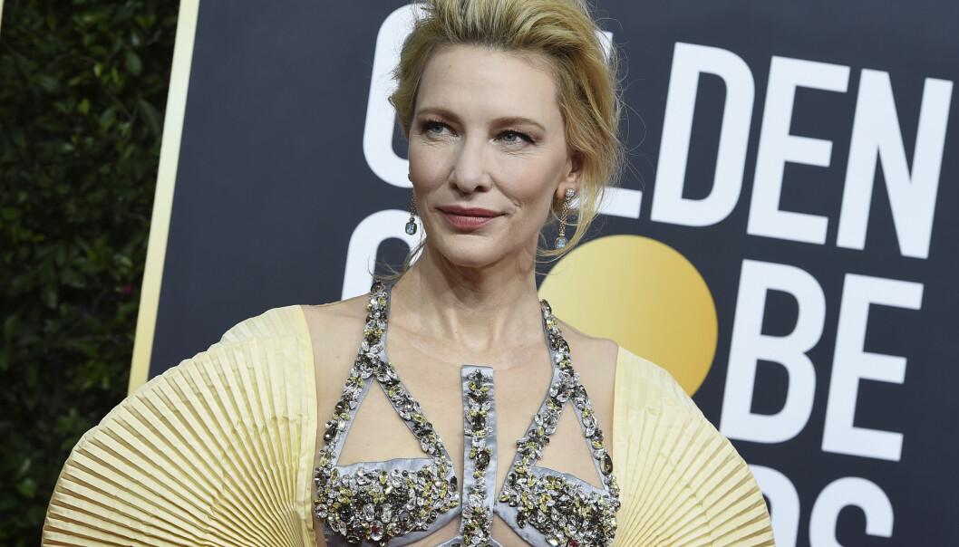 GOLDEN GLOBES: Cate Blanchetts kjole kommer vi ikke til å glemme. Foto: NTB Scanpix