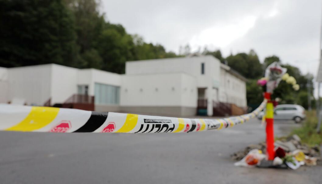 Angrepet i Al-Noor Islamic Centre i Bærum skjedde 10. august i fjor. Foto: Ørn E. Borgen / NTB scanpix
