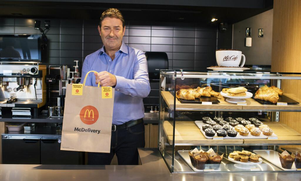 SPARKET: Steve Easterbrook måtte i november forlate sin sjefsstilling i McDonalds etter å ha innledet et forhold med en ansatt. Forholdet skal ha vært samtykkende. Foto: NTB Scanpix
