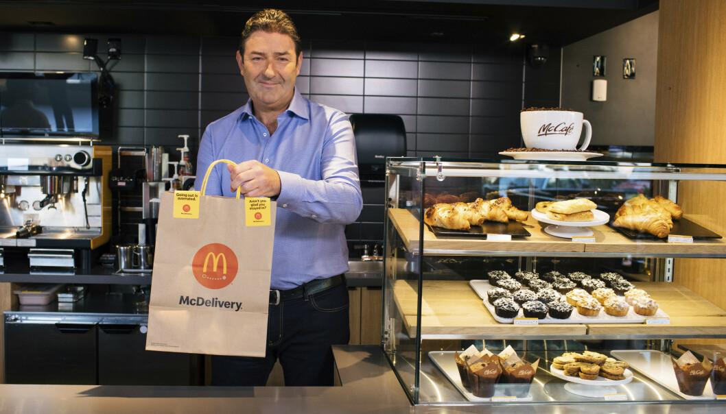 <strong>SPARKET:</strong> Steve Easterbrook måtte i november forlate sin sjefsstilling i McDonalds etter å ha innledet et forhold med en ansatt. Forholdet skal ha vært samtykkende. Foto: NTB Scanpix