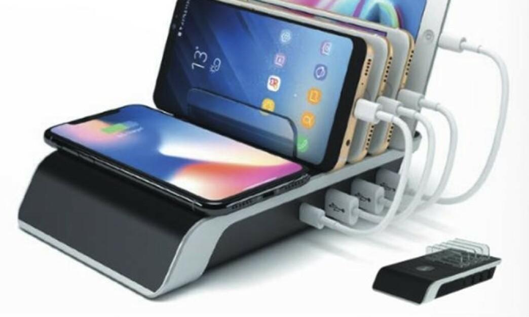 <strong>TILBAKEKALLES:</strong> Importøren har valgt å tilbakekalle denne mobilladeren etter to tilfeller med varmgang. Foto: Rob. Arnesen A/s / NTB scanpix