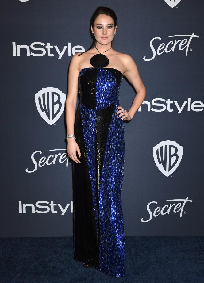 SHAILENE WOODLEY: Skuespilleren var i tillegg til å se på selve Golden Globe, å se på etterfesten. Foto: NTB Scanpix