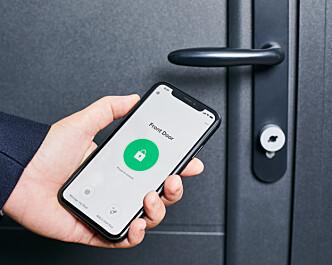 <strong>GI GJESTER TILGANG:</strong> Med Netatmos app kan du gi husgjester tilgang via mobilen. Foto: Netatmo