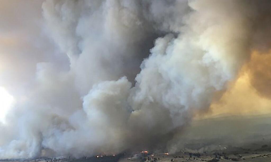 image: Røyken fra brannene i Australia synlig i Sør-Amerika