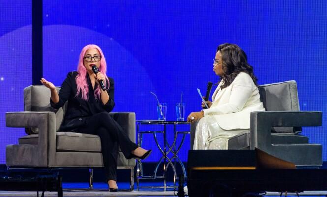 <strong>ÆRLIG:</strong> Lady Gaga holdt ikke tilbake da hun skulle fortelle om sitt psykiske sammenbrudd til Oprah Winfrey. Foto: NTB Scanpix