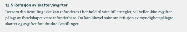 Foto: skjermdump fra Norwegian vilkår.