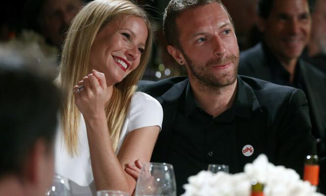 <strong>EKSEN:</strong> Gwyneth Paltrow og Chris Martin skilte lag i 2014. De har barna Moses og Apple sammen. Foto: NTB Scanpix